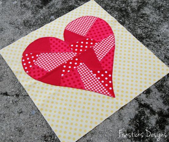 February Riley Blake Mystery Quilt Block – Hearts : heart quilt blocks - Adamdwight.com
