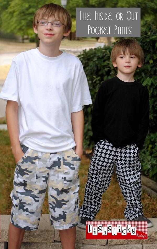 Inside or Out Pocket Pants Big Kid
