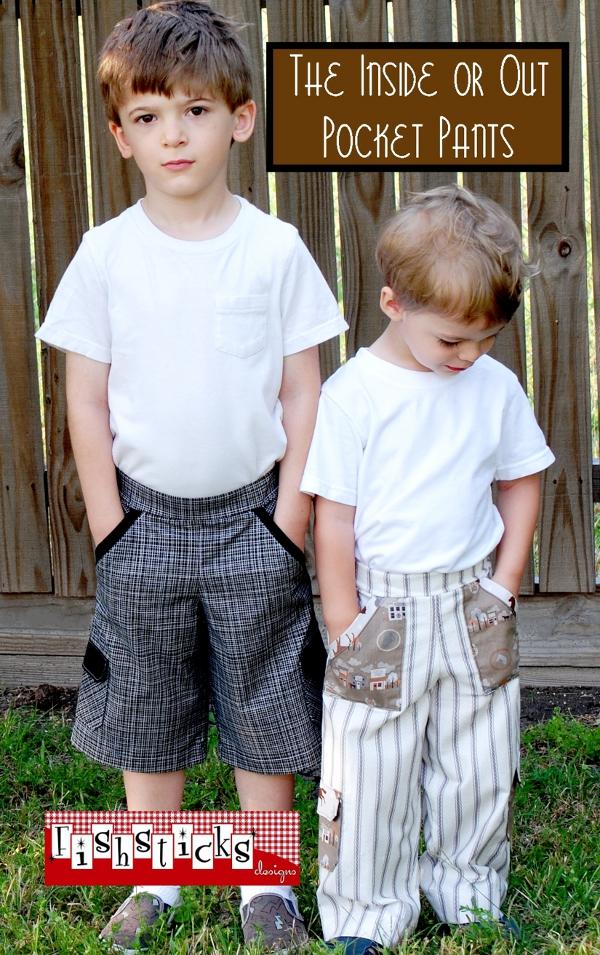 Inside or Out Pocket Pants Infant & Toddler