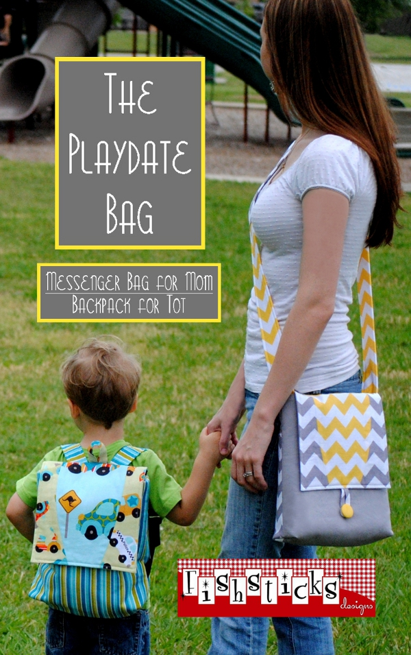 The Playdate Bag - Messenger Bag for Mom/Backpack for Tot